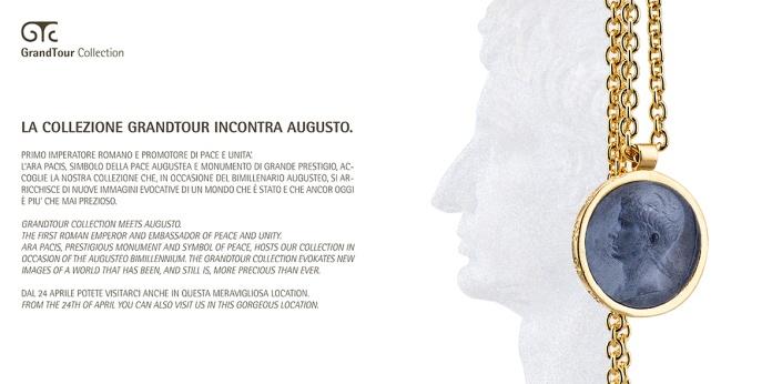 Grand Tour collection incontra Augusto in occasione del bimillenario #augusteo, l'Ara Pacis accoglie la nostra collezione che si arricchisce di nuove immagini evocative.