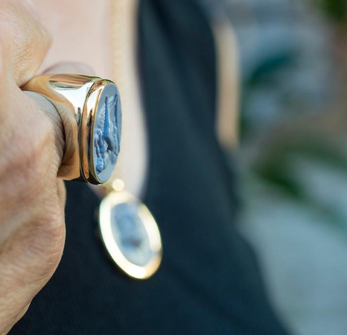 anello classico in bronzo